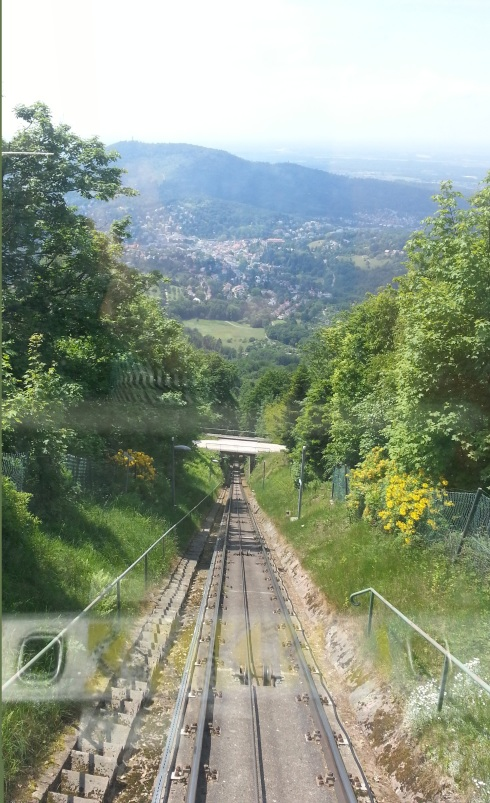 Going up the funicular