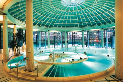 The main indoor pool at Caracalla Spa