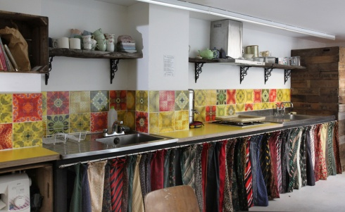 Ties and tiles in Fabrications' workshop