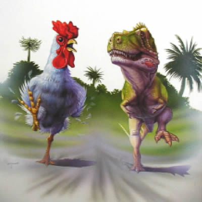 T Rex and Chick